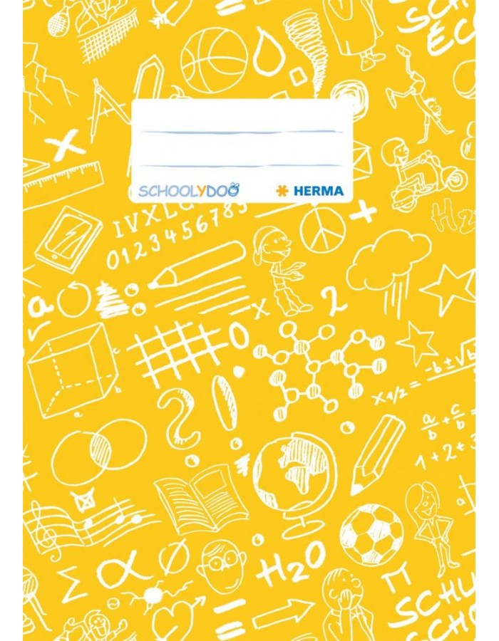 Exercise book cover A5 SCHOOLYDOO, yellow