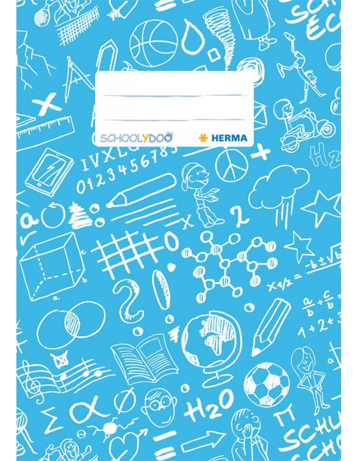 Exercise book cover A5 SCHOOLYDOO, light blue