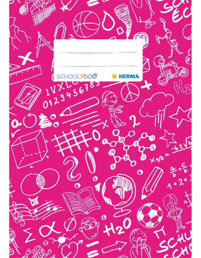 Exercise book cover A5 SCHOOLYDOO, dark pink