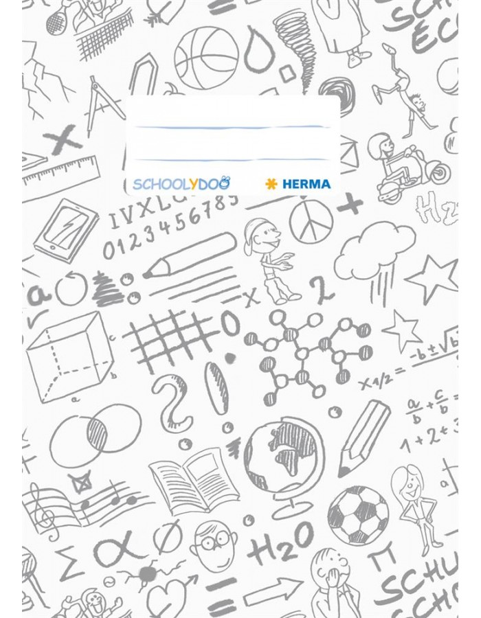 Exercise book cover A5 SCHOOLYDOO, white