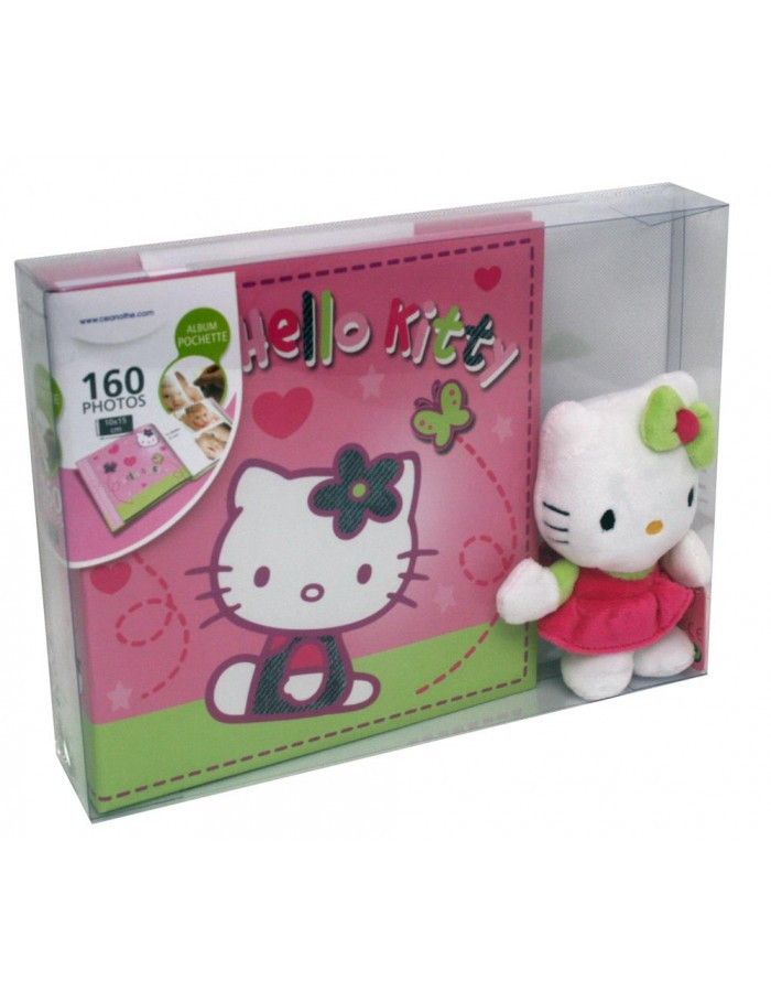 Hello Kitty slip-in album with cuddly toy