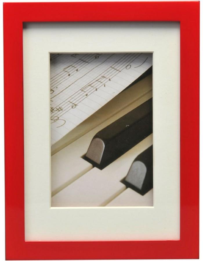 Henzo Piano Holz-Bilderrahmen 15x20 cm rot Henzo | fotoalben-discount.de