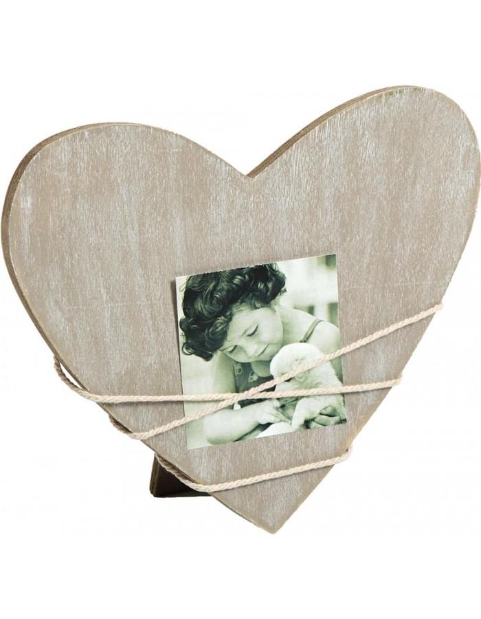 Walther Heart photo frame Bella grau for 1 photo | fotoalben-discount.de