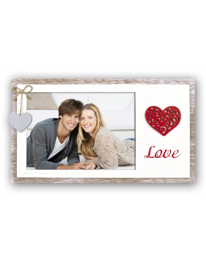 Heart photo frame Valeria 10x15 cm and 13x18 cm