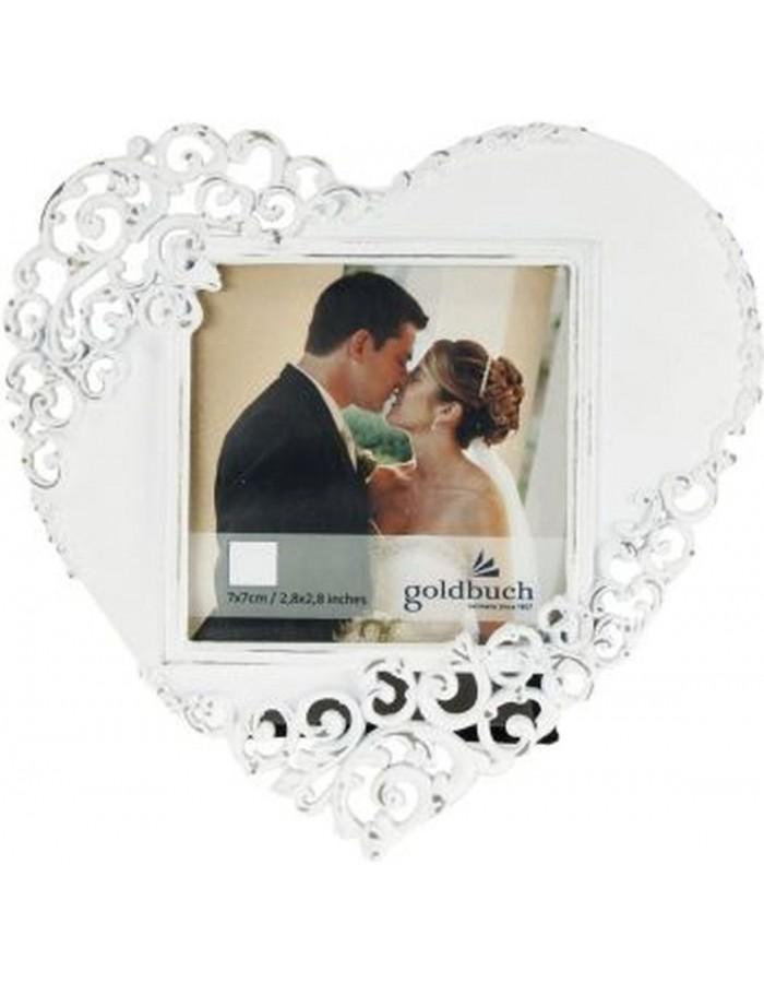 Goldbuch heart metal photo frame ETERNITY 9x9 cm white | fotoalben ...