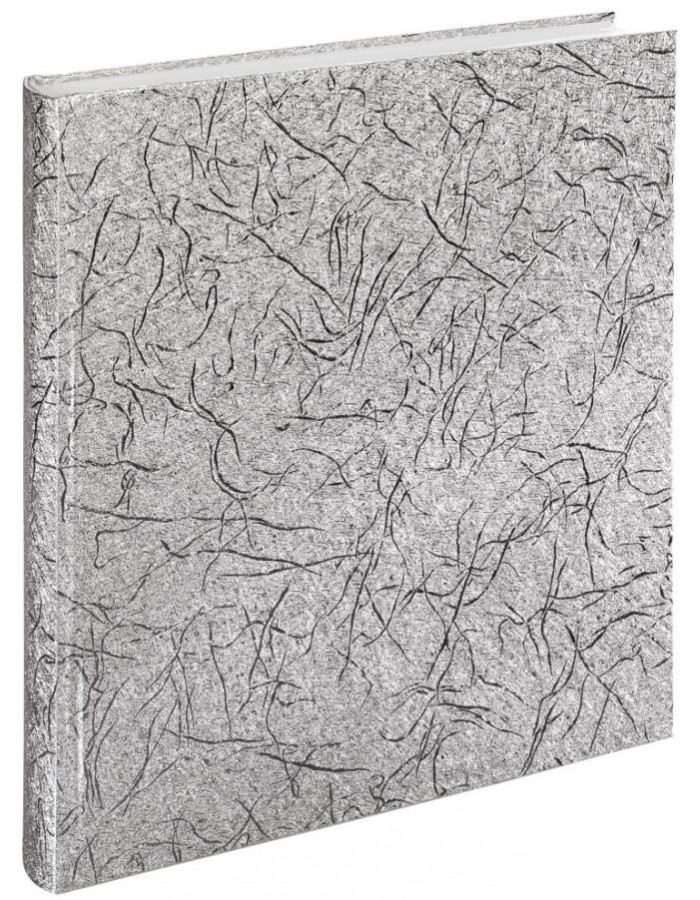 Caracas Bookbound Album, 29x32 cm, 50 white pages, silver