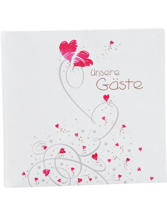 Wedding guestbook Flying Hearts