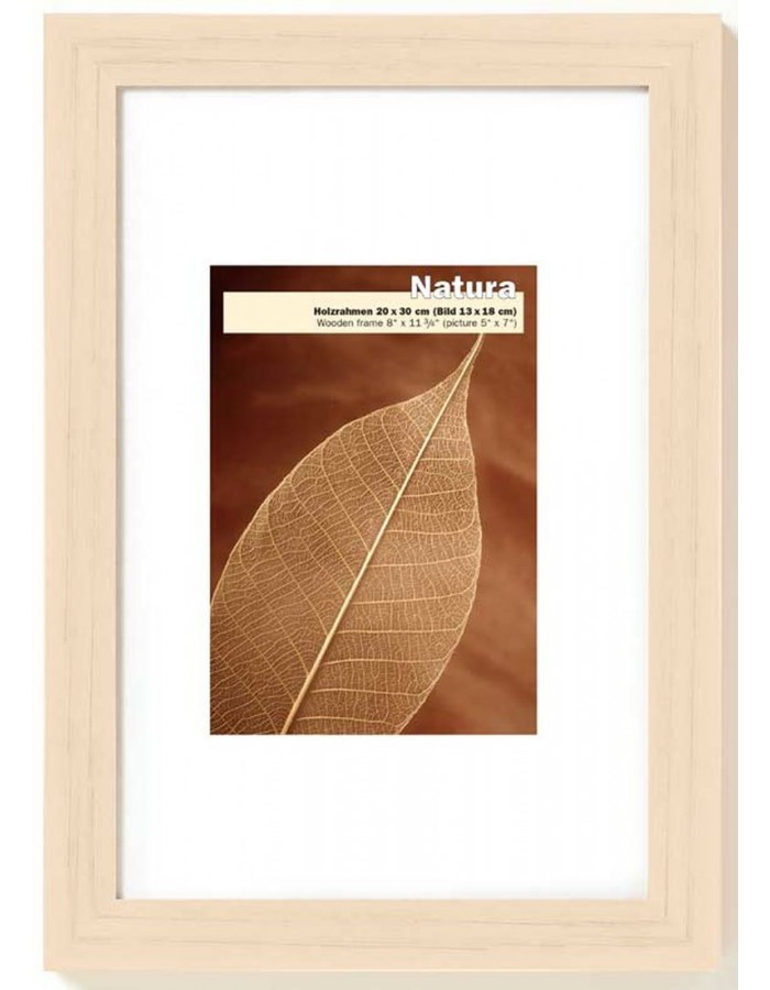 Wooden picture frame NATURA 18x24 cm - birke Walther | fotoalben ...