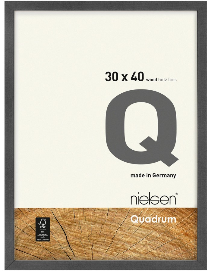holz wechselrahmen quadrum fsc 18x24 cm grau nielsen. Black Bedroom Furniture Sets. Home Design Ideas