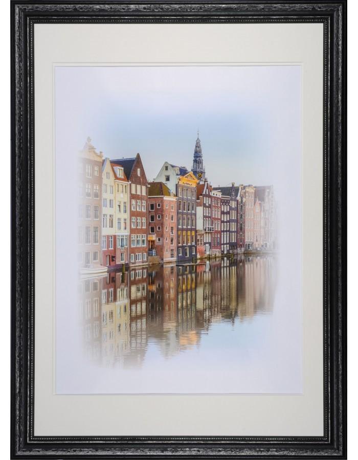 Wooden frame Amsterdam black 70x100 cm double matting