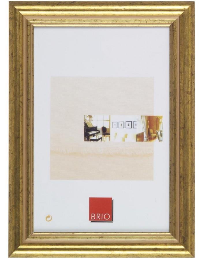 Holzrahmen Circee 10x15 cm gold Brio | fotoalben-discount.de