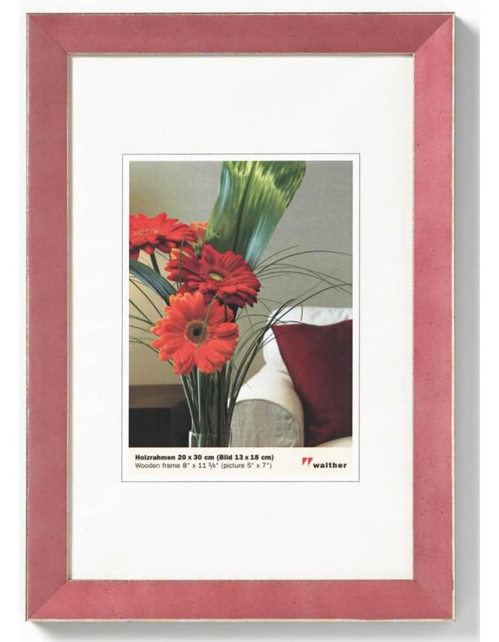 holzrahmen exclusive 30x40 cm rot walther fotoalben. Black Bedroom Furniture Sets. Home Design Ideas