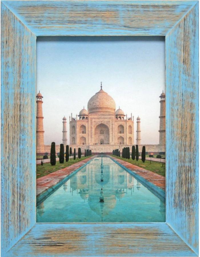 Holzrahmen India 10x15 cm blau Henzo   fotoalben-discount.de