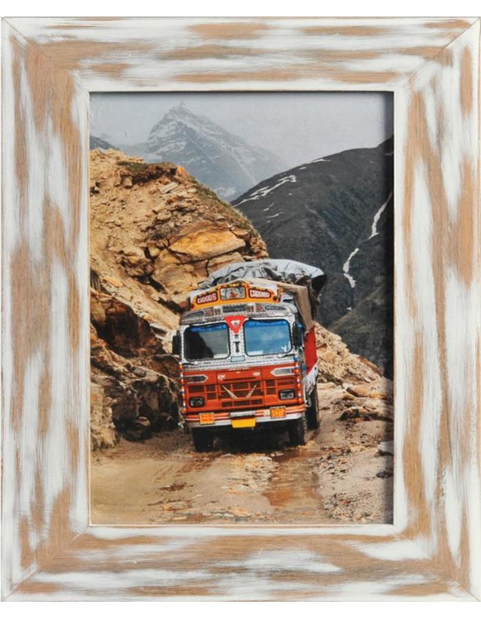 Holzrahmen India 10x15 cm weiss Henzo   fotoalben-discount.de