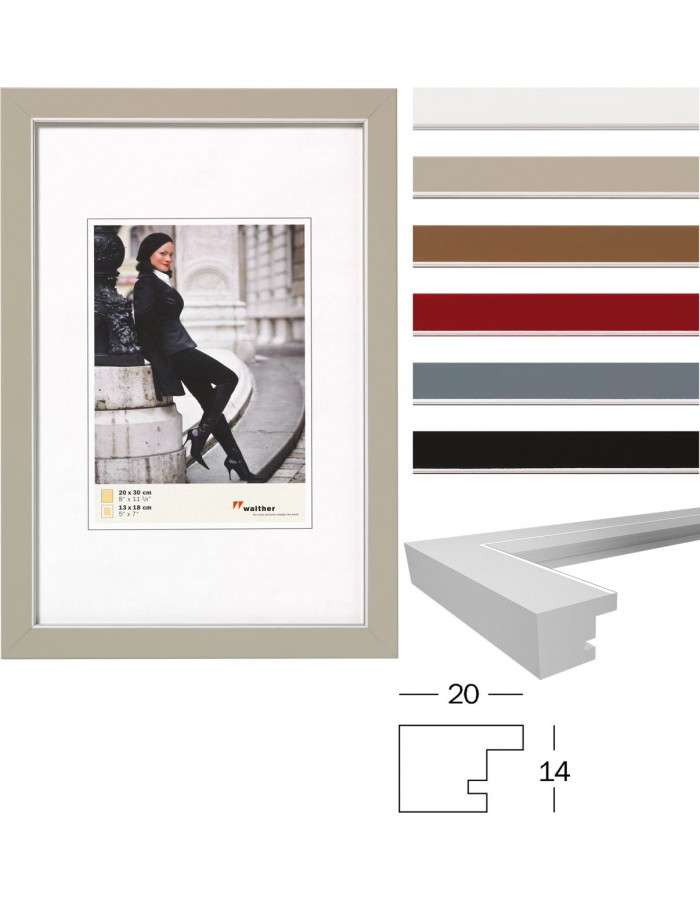 Marie wooden frame with silver edge