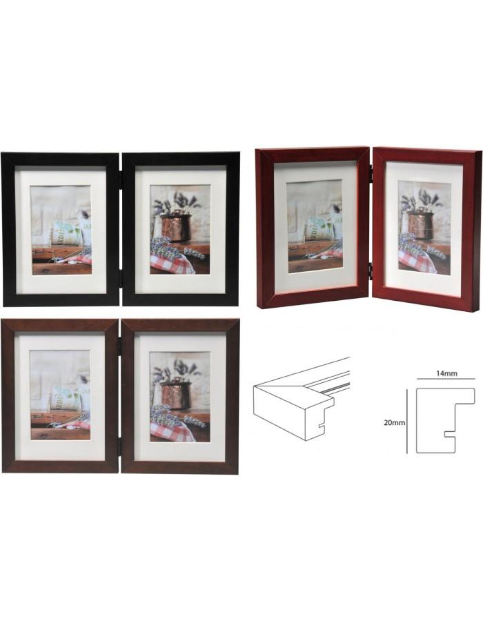 Double frame Jardin Henzo 2 photos 9x13 cm or 13x18 cm