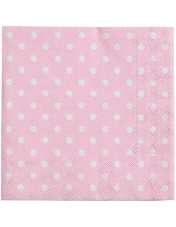 Coffee paper napkins Just Dots 25x25 cm pink