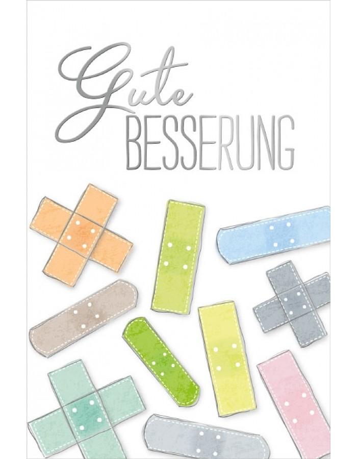 Karte Gute Besserung Pflaster ARTEBENE   fotoalben-discount.de