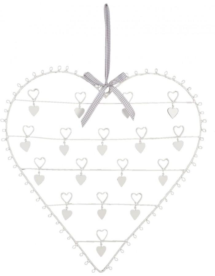 Clayre Eef Kartenhalter Herz mit Schleife 48x50 cm weiß | fotoalben ...