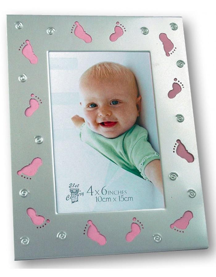 rosafarbener Babyrahmen Chicca ? günstig bei Fotoalben-Discont
