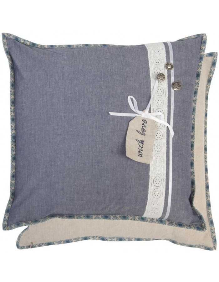 Cushion SWEET AND SIMPLE unfilled blue 50x50 cm