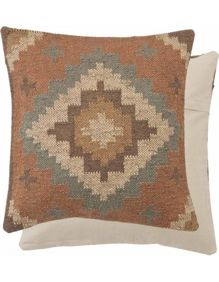Pillowcase brown ethnic-style 50x50 cm