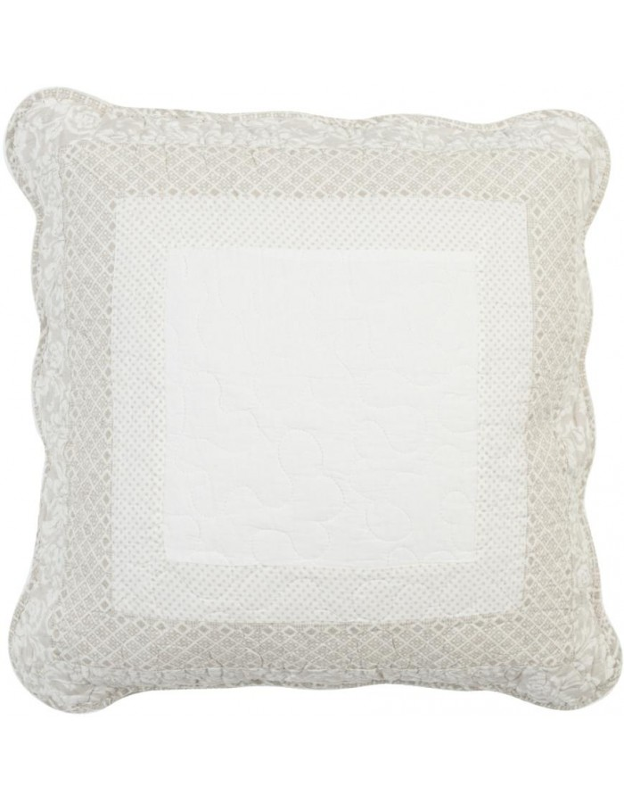 pillow case Q106 gray without filling 50x50 cm