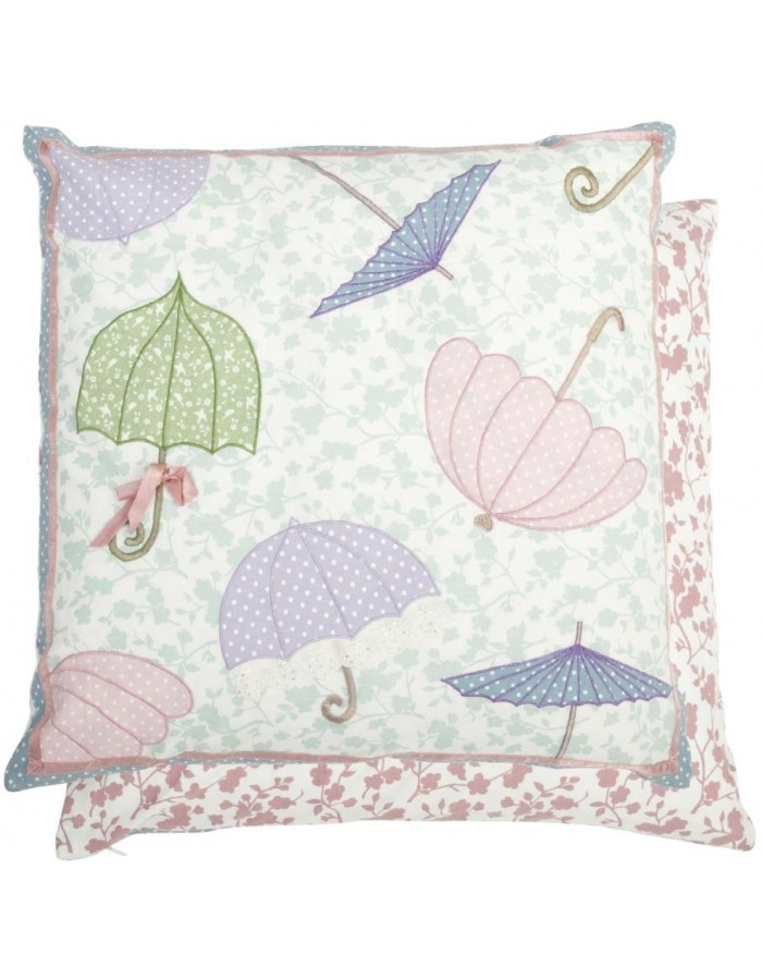 pillow case SINGING IN THE RAIN umbrellas colorful 50x50 cm