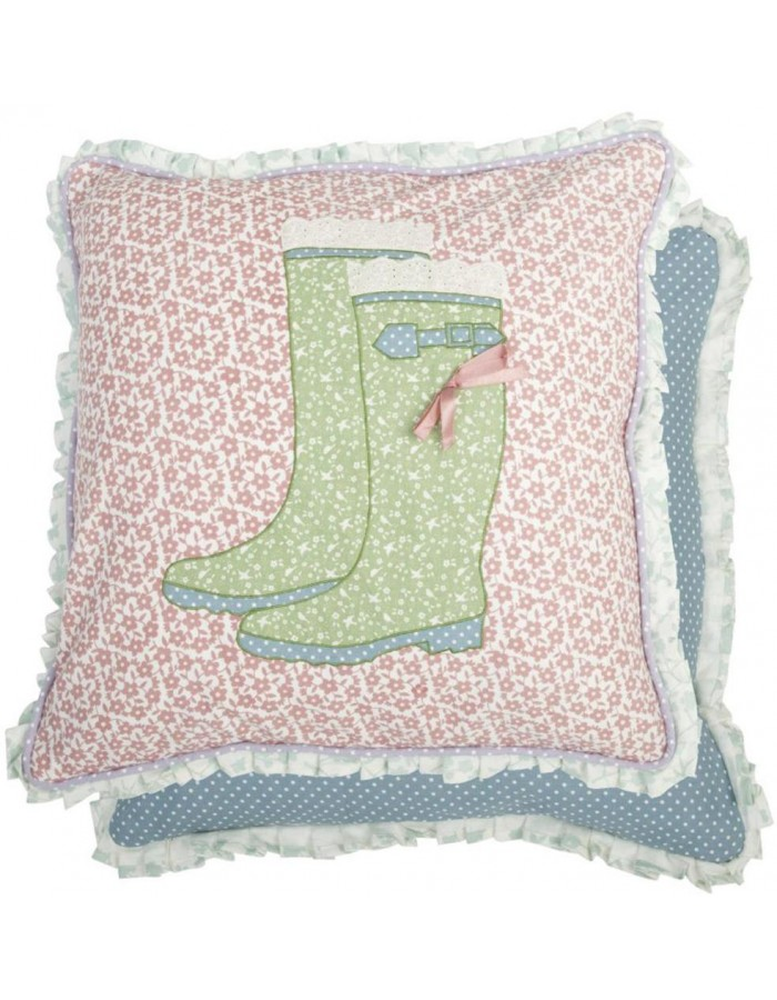 pillow case colorful wellies 50x50 cm