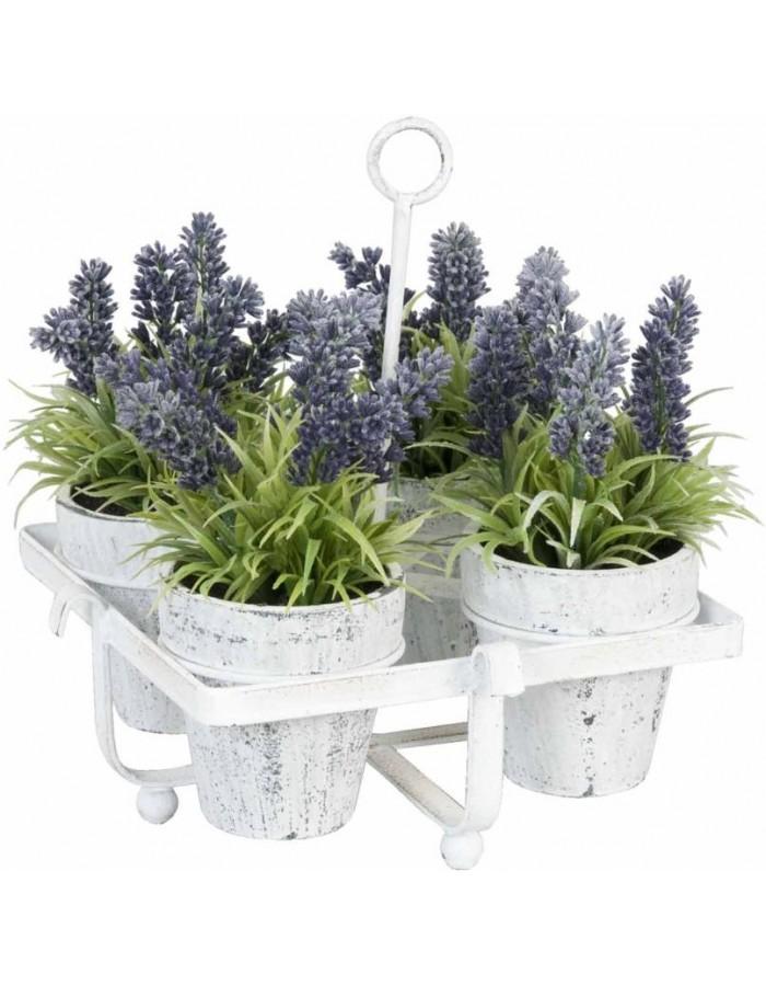 kunstblumen im topf lavendel ca 23 cm clayre eef. Black Bedroom Furniture Sets. Home Design Ideas