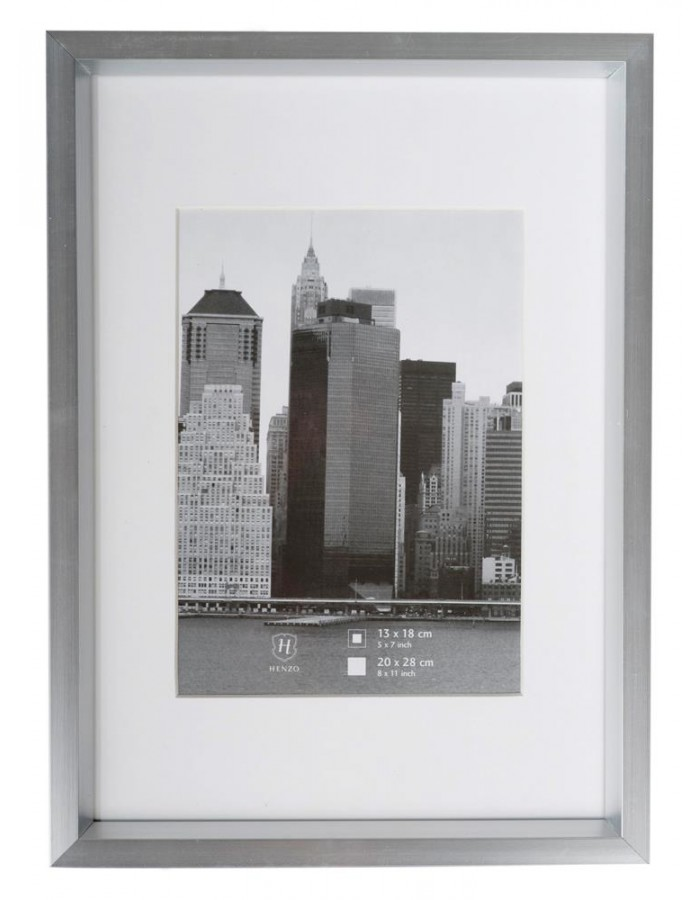 Henzo plastic picture frame 20x28 cm METALLICA - silver | fotoalben ...