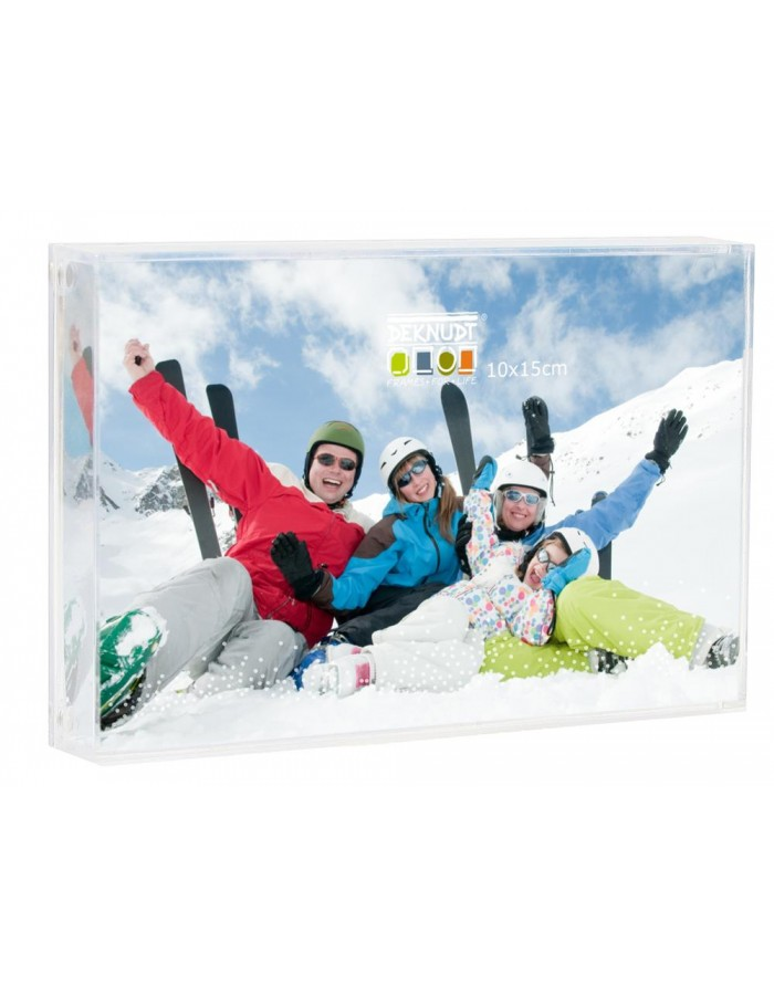 Acrylic picture frame with snow