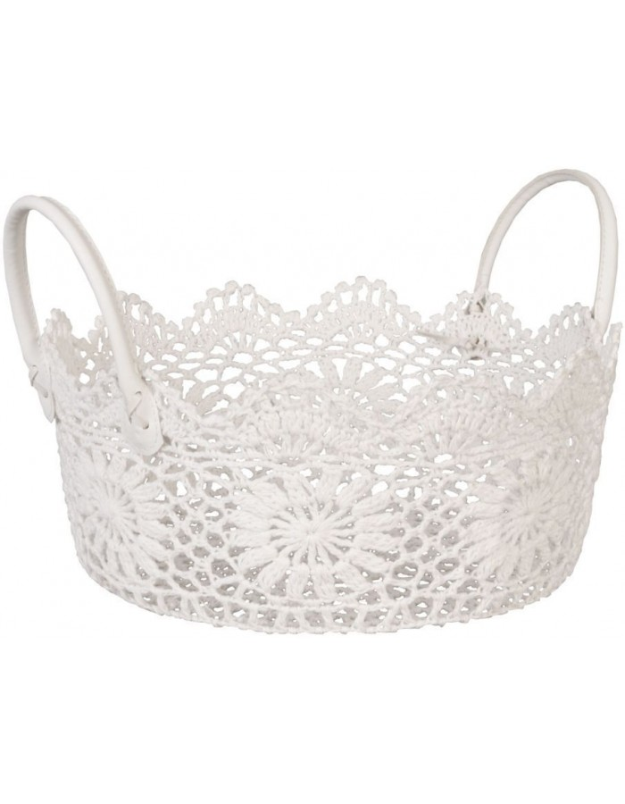 plastic-basket white - CR0135W Clayre Eef