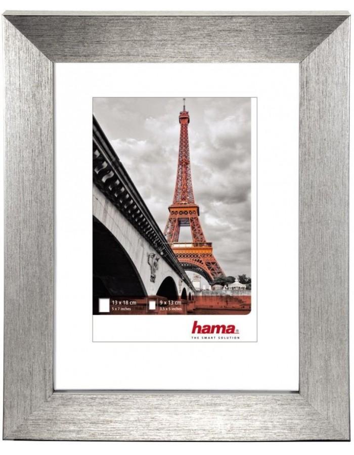 Hama Plastic Frame Paris, silver, 13 x 18 cm | fotoalben-discount.de