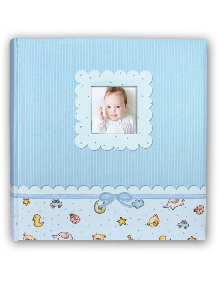 LUCA light-blue baby photo album 24x24 cm