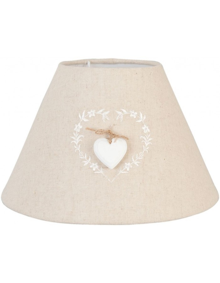 Lampshade with heart application 26x17 cm