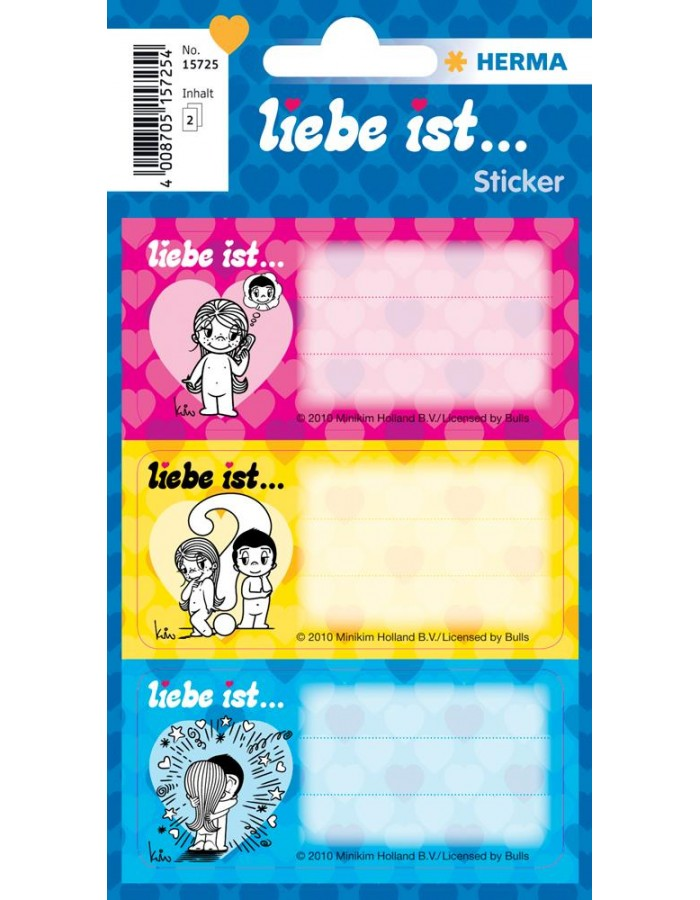 Liebe ist ... Label stickers - 2 sheets