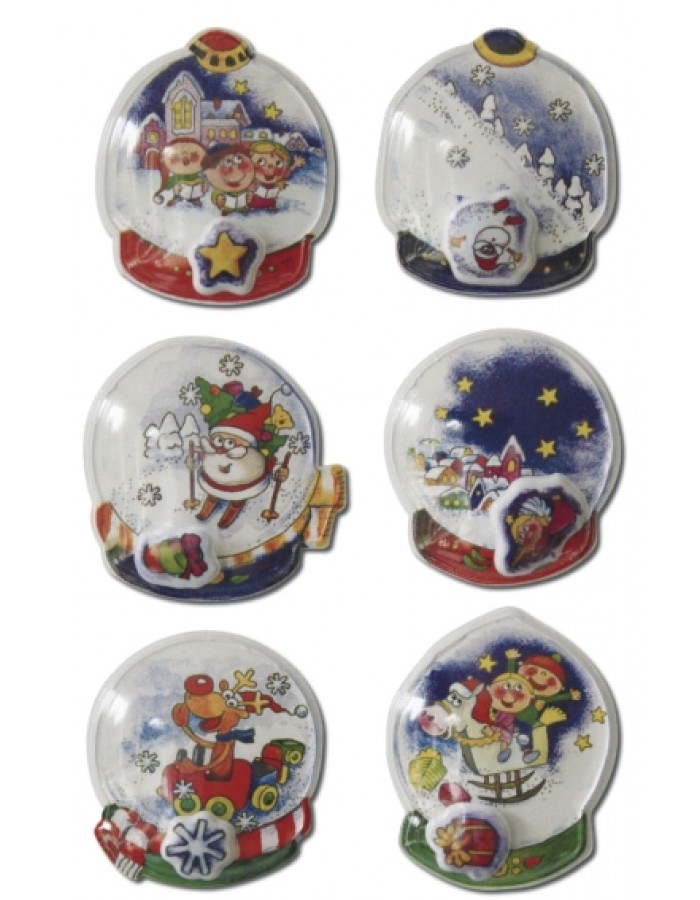 Decorative stickers MAGIC snow ball, capsule 1 sheets