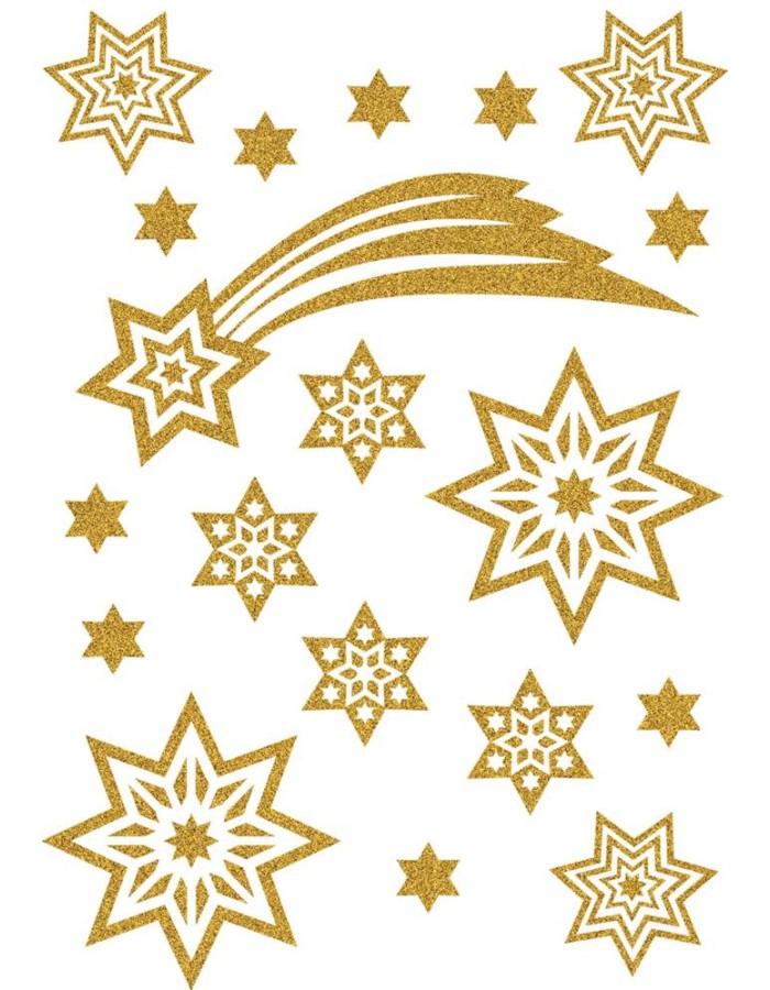sticker weihnachten magic sterne schweif