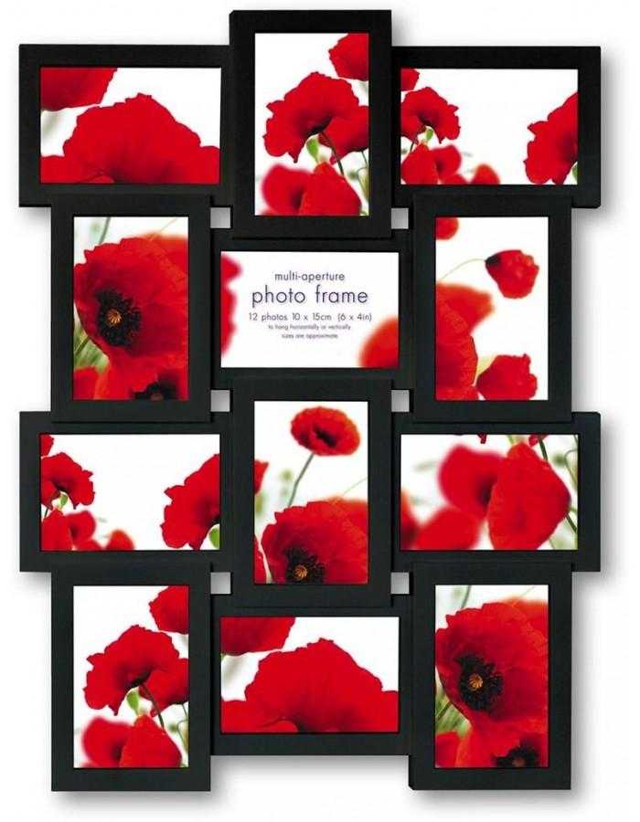 ZEP Maggiore Galeriebilderrahmen 12 Fotos 10x15 cm schwarz ...