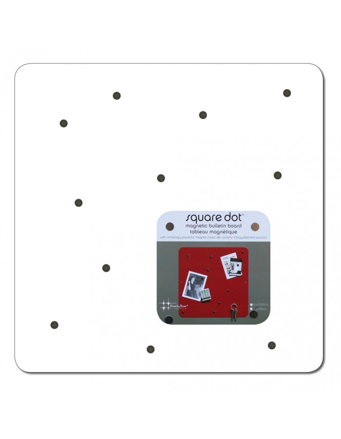 Magnet Board SQUARE DOT 38 cm in weiß