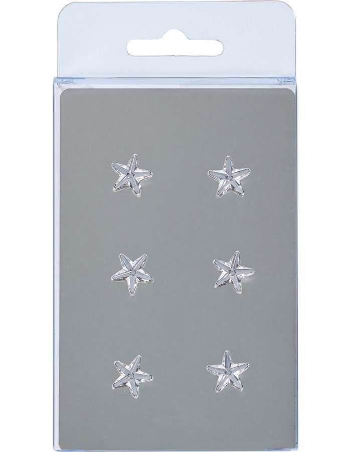 magnets 6 stars silver