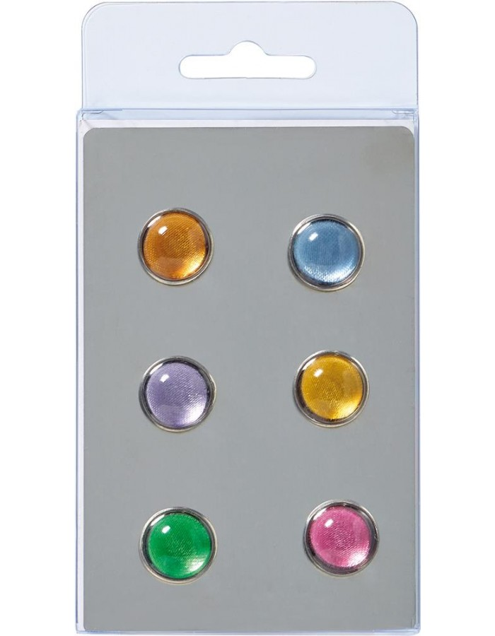 6 coloured magnets
