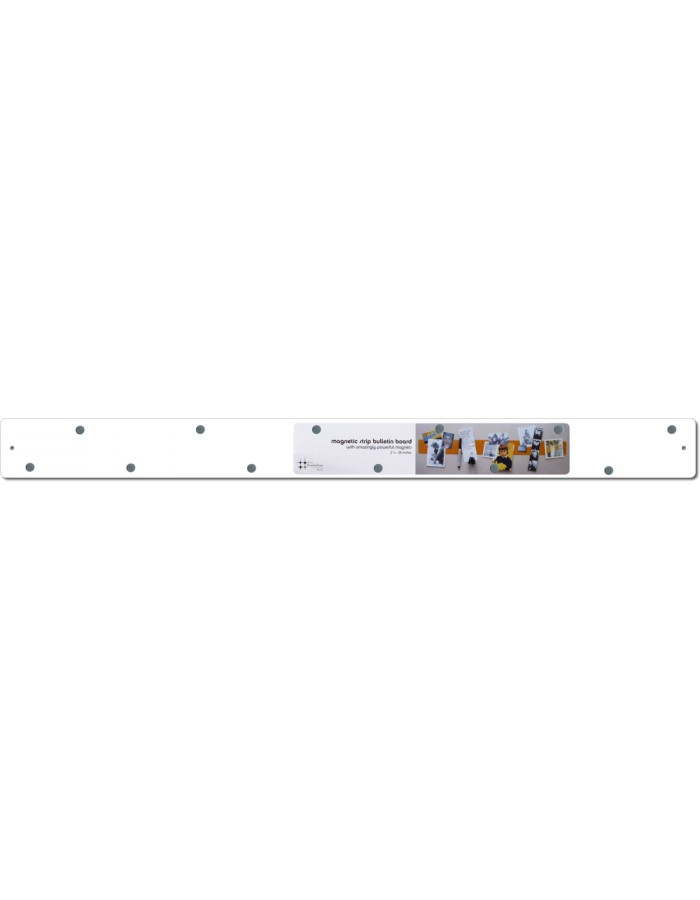 Skinny Magnetic Strip 24x1 in white