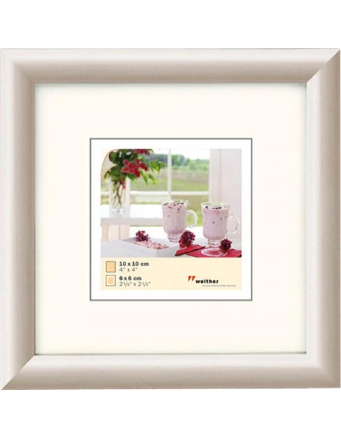 Meran wooden frame 10x10 cm white polar Walther | fotoalben-discount.de