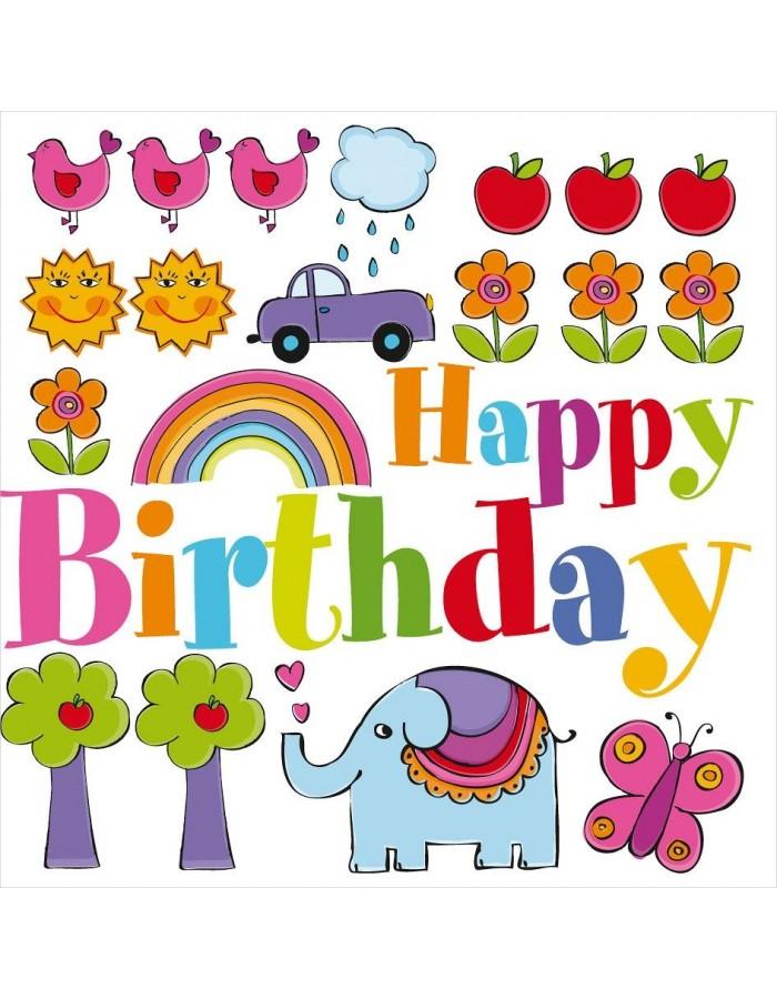 Minikarte Artebene Happy Birthday Kids
