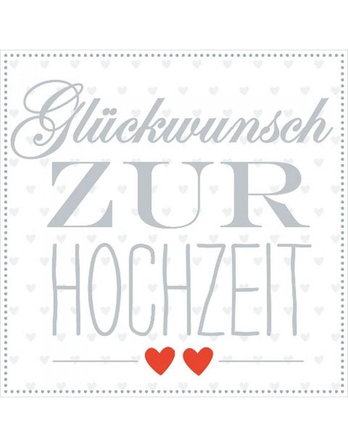 Minikarte Hochzeit Herzen ARTEBENE | fotoalben-discount.de