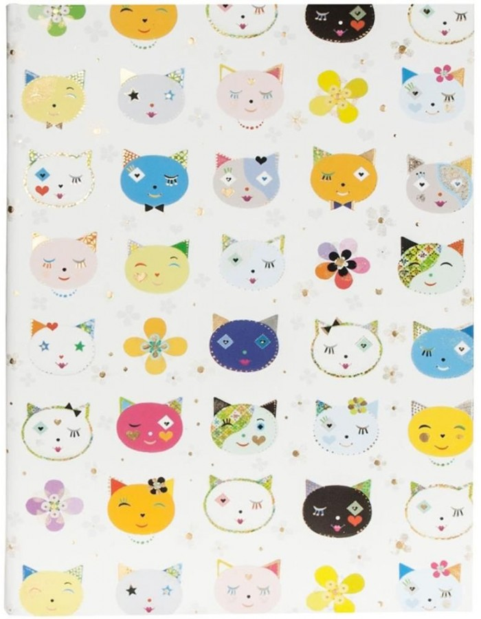 DIN A4 notebook CATS WHITE