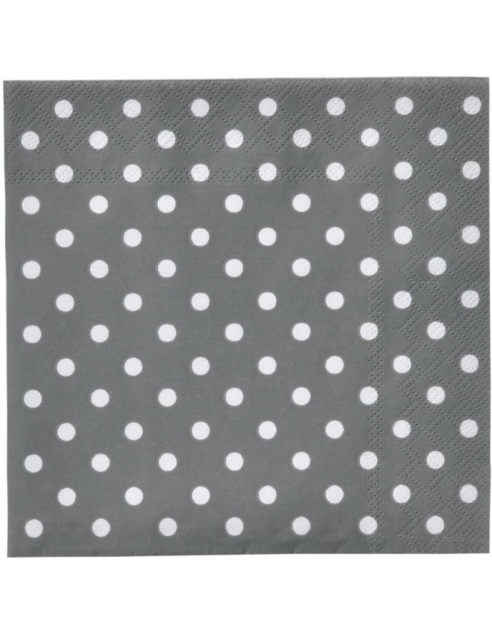 Coffee paper napkins Just Dots 25x25 cm gray