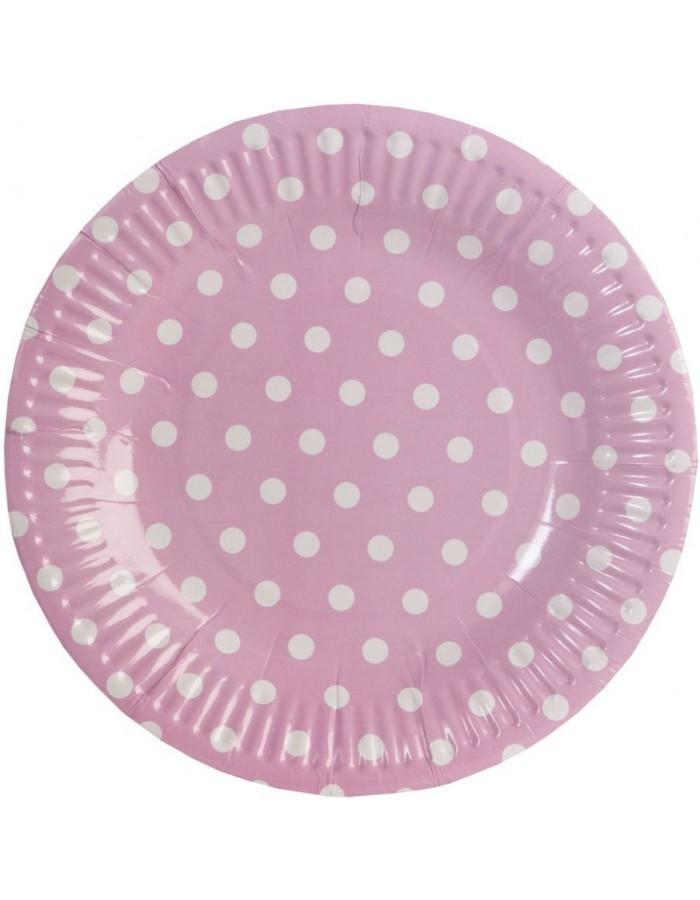 Pappteller Dots 18 5 Cm Rosa Fotoalben